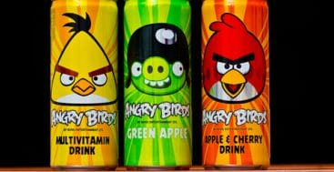 Sugary drink cans