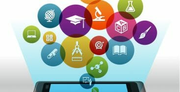 Online education on smart Phone